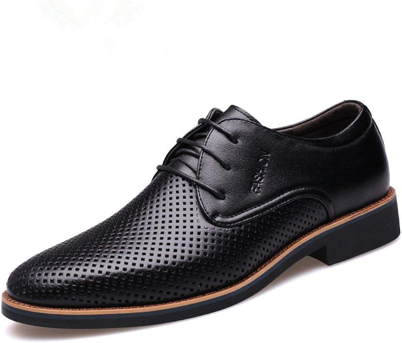 ZHRUI Men Dress Formal shoes Summer Breathable Hollow Out Leather Oxfords shoes Casual Wedding shoes (color   Black, Size   5.5UK=39EU)