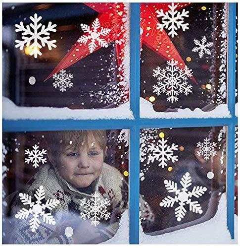 SanXingRui Pegatinas Navidad Copo Nieve Pegatinas Navidad Blancas Película Electrostática, Decoración del...