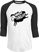 Minor Threat Punk Band Logo Men's 3/4 Sleeve Athletic Baseball Jersey