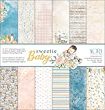 Pack de 12 Papeles (12'x12'/30,5x30,5cm) - Sweetie Baby