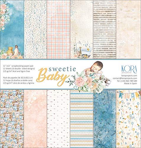 Pack de 12 Papeles (12x12/30,5x30,5cm) - Sweetie Baby