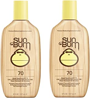 Sun Bum Original SPF 70 Sunscreen Lotion | Vegan and Reef Friendly (Octinoxate & Oxybenzone Free) Broad Spe...