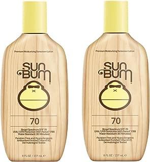 Sun Bum Original Moisturizing Sunscreen Lotion, Broad Spectrum UVA/UVB Protection, Hypoallergenic, Paraben Free, Gluten Free, 8 oz, 2 Count