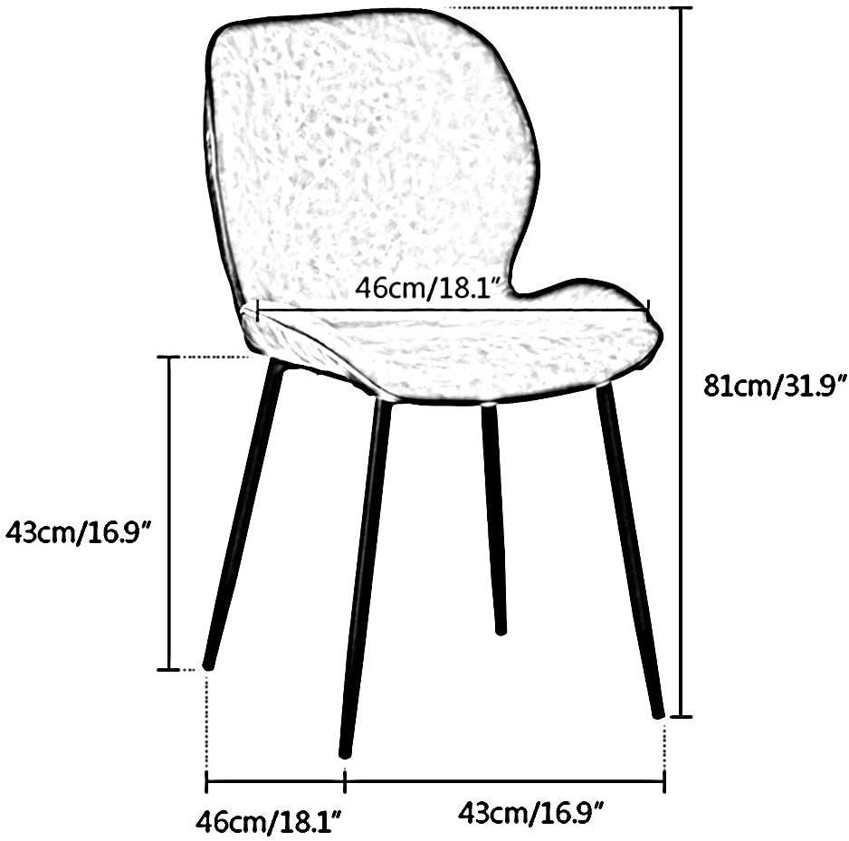 Bseack Chaise Ergonomique négociation en Cuir PU Tissu léger Chaise à Manger de Siège d'une Seule pièce Accueil Retour Dressing Chaise for Office Restaurant (Color : Gray) Blue
