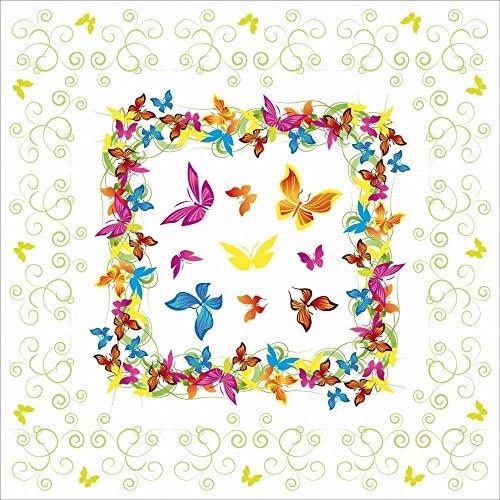 Sovie Home Tischdecke Papillon | Linclass® Airlaid 80x80 cm | edle Tischdeko Schmetterlinge Sommer Frühling