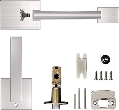 Oasbike Single Door Handle, Front Door Handle Set, Entry Door Handle with Door Lever for Right & Left Sided Doors