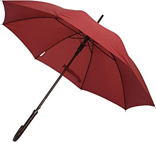 Deluxe Automatic Open Wood Handle & Shaft Umbrella (Burgundy)