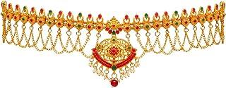 Jaipur Mart Golden Green Alloy Kamarband for Women for Lehenga , Saree