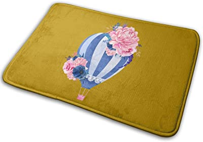 Hot Air Balloon Carpet Non-Slip Welcome Front Doormat Entryway Carpet Washable Outdoor Indoor Mat Room Rug 15.7 X 23.6 inch