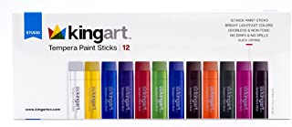 KINGART Tempera Paint Sticks - Set of 12