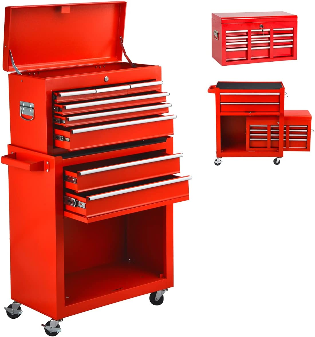 Heavy Duty 8 Drawer Mechanic Bargain sale Tool Box with Wheels Rol Chest 2021new shipping free