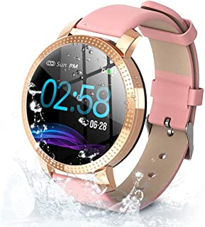 BYTTRON Fitness Tracker para Mujer, con Gran Pantalla a Color, IP67 Impermeable Fitness & Activity Tracker con frecuencia ...