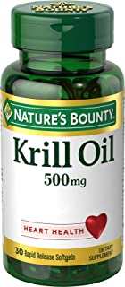Nature's Bounty Krill-500 mg Oil, 30 Softgels
