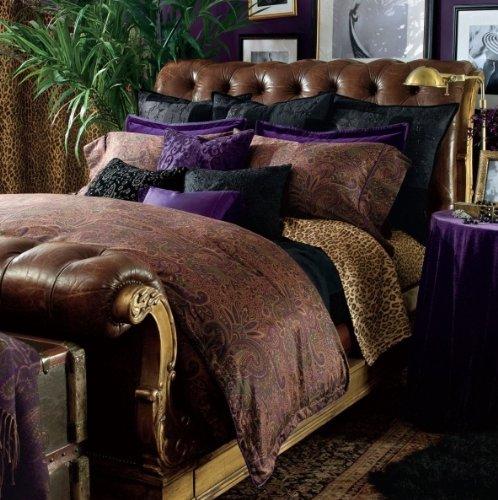 Lauren by Ralph Lauren New Bohemian Purple Velvet EURO Pillow Sham