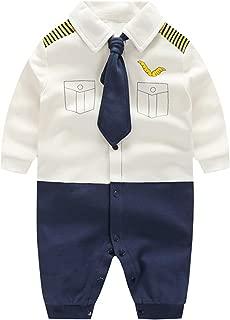 LYSMuch Newborn Baby Boy Clothing Set Gentleman Infant Formal Tuxedo Outfit Suit Bowtie Elk