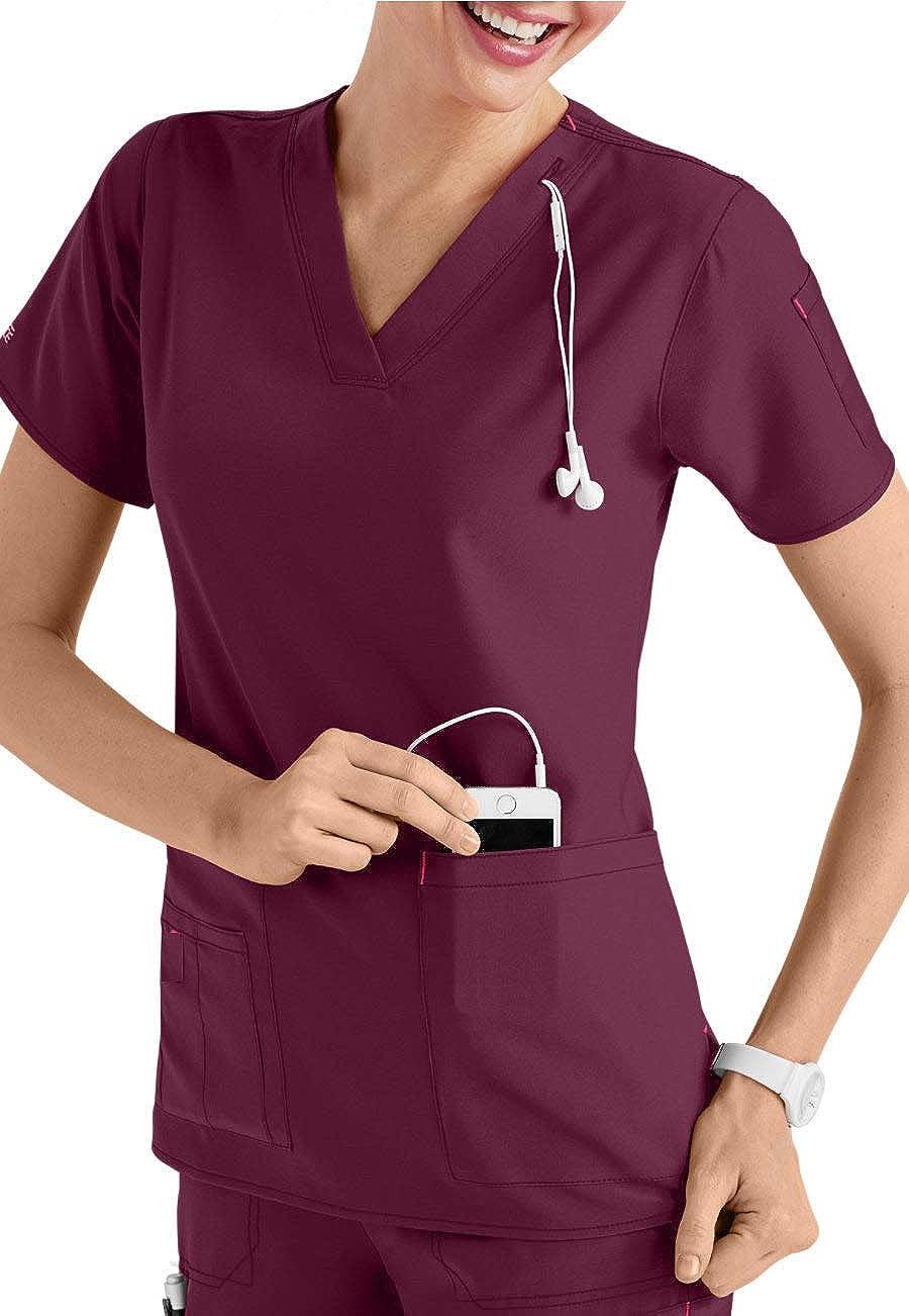 5 bolsillos Chaqueta con cuello de pico Smart Uniform Media Top
