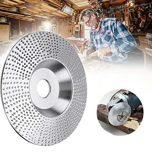 XuSha Wood Tungsten Carbide Grinding Wheel Disc Tungsten Carbide Abrasive Angle Grinder Wheel Wood Carving Grinding Disk (100mm Bevel)