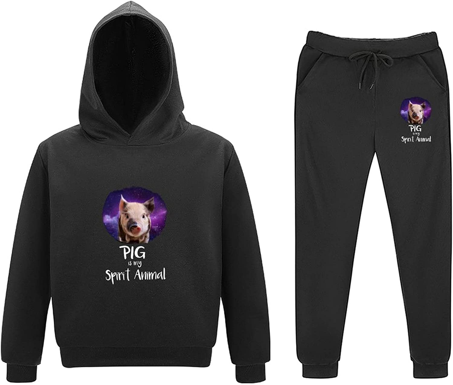 Just A Girl Who Loves Affenpinscher Dog Adjustable Youth Classic Hooded Sweater Loose Sweater Sweater Pants Set