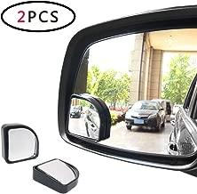 AOTOMIO 2pcs Blind Spot Mirror Adjustable Acrylic Mirror Convex Mirror Car Fan Shaped Mirror Universal Fit Most Cars