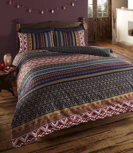 DE Cama Ethnic Indian Print Duvet Cover with 2 Pillow Cases, King