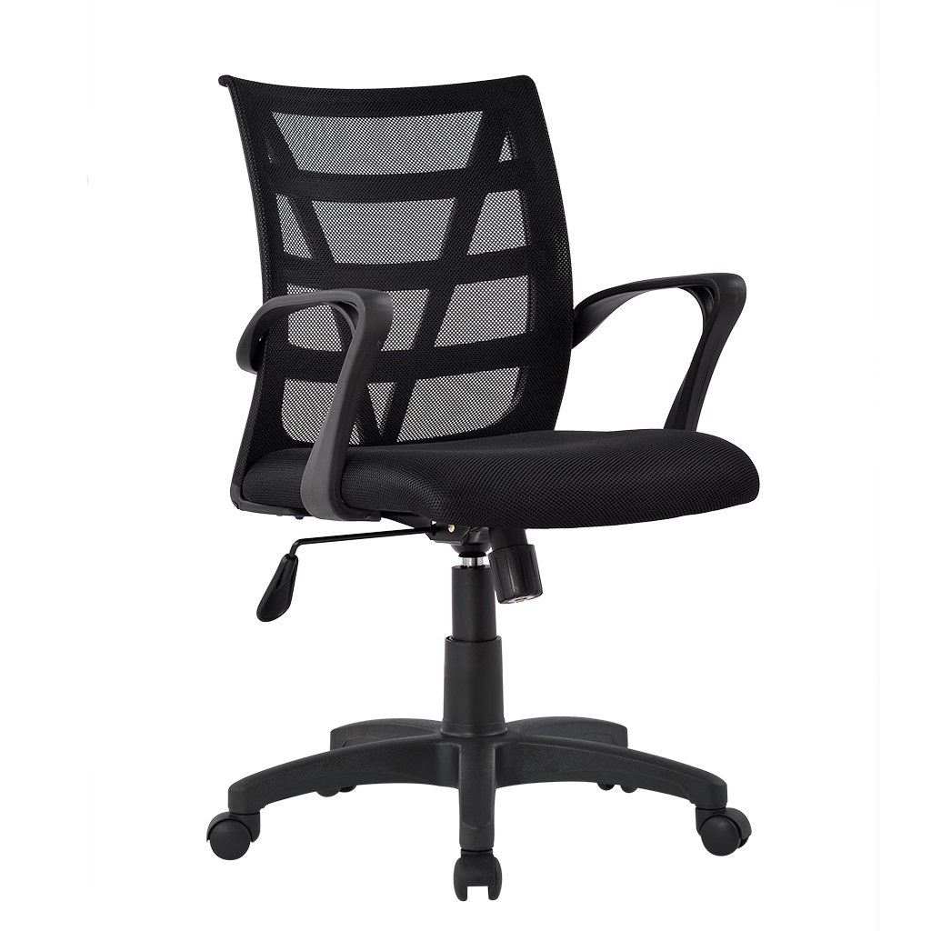 LANGRIA Comfortable V Shape Medium Back Mesh Home Office Desk Chair Ergonomic Design Mesh  sc 1 st  Amazon UK & Office Chair with Back Support: Amazon.co.uk