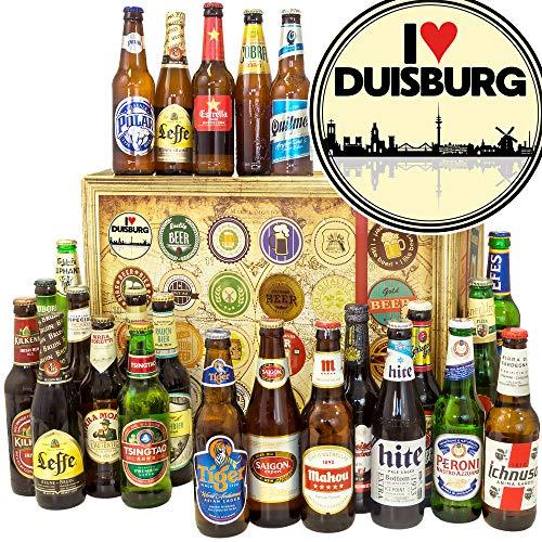 I love Duisburg - 24 Biere der Welt - Geburtstagsüberraschung Duisburg - Bier Adventskalender Männer