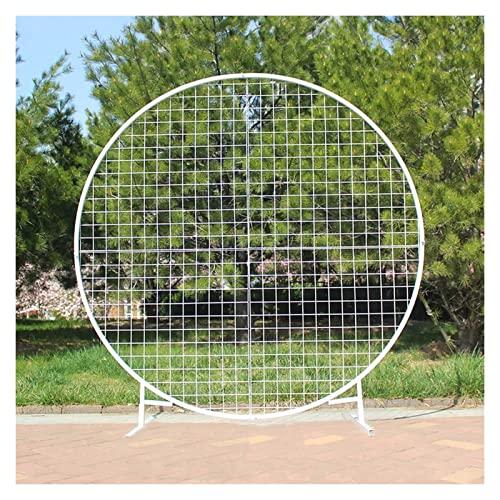 Arcos de jardín redondo, arcos de jardín de metal, for rosas plantas de escalada Soporte de arco, arbos arcos Plantas de escalada Patio al aire libre Arbor Pérgola Arco de arco Arcos Arcos Metal Fuer