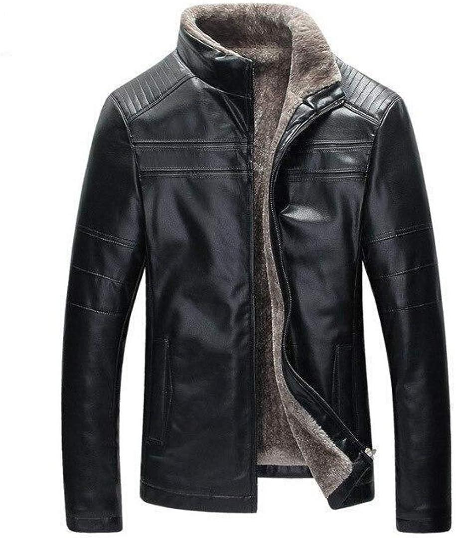 Max 43% OFF West Louis Men's Leather Jacket Ranking TOP12 Inside Fleece Smoo Modern Lining
