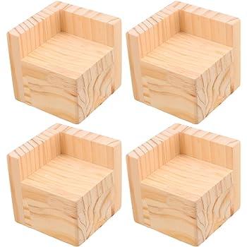 Fibre de Bambou rehausseurs de lit Meubles espaceurs Lift Cadre de lit cr/éer de Rangement sous lit Dortoir Lot de 8 pi/èces