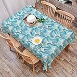 Rechteck Tischdecke140 x 200 cm,Dschungel, Miami Forest Palm Tree Leaves in Pastellfarben Aquarell Laub,Couchtisch Tischdecke Gartentischdecke, Mehrweg, Abwaschbar Küchentischabdeckung für Speisetisch