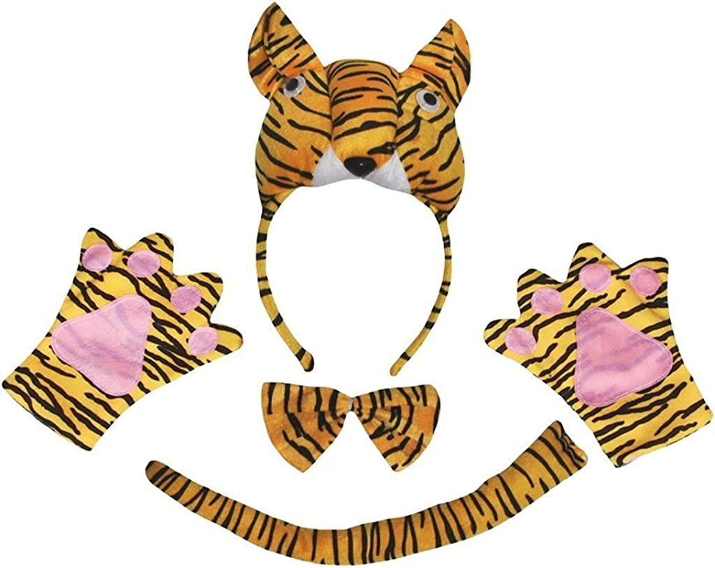 Petitebella wholesale El Paso Mall Combined Cutie Animals Headband Bowtie Cost Tail 4pc