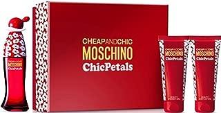 Cheap and Chic Chic Petals By Moschino 3 Pcs Set: 1.7 Oz Eau De Toilette Spray, 3.4 Oz Body Lotion, & 3.4 Oz Shower Gel
