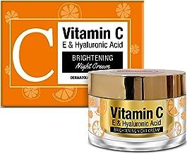 StBotanica Vitamin C, E & Hyaluronic Acid Brightening Night Cream, 50g - With Argan Oil