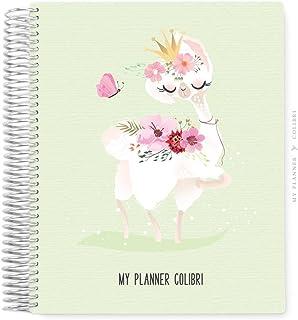 My Planner Colibri Llama Green - 12 MESES - Sem Data - Layout Mensal, Semanal, com Financeiro e Habit Tracker