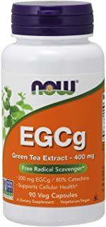 NOW Supplements, EGCg Green Tea Extract 400 mg, Free Radical Scavenger*, 90 Veg Capsules