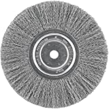 DEWALT Wire Wheel, 8-Inch, Crimped, 5/8-Inch Arbor, Wide Face, .014-Inch (DW4907)