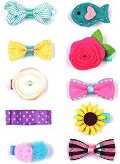 Belle Beau Baby Girls Hair Bows, Hair Clips, Ribbon Lined Alligator Hair Clips