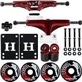 Core Skateboard Package 5.0' Metallic Red/White Trucks 52mm Black Wheels