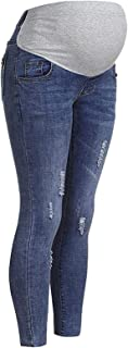 DAY8 Jeans Premaman Skinny Strappati Pantaloni Premaman Donna Inverno Regolabili Pantalone Donna Gravidanza Denim Vita Alt...