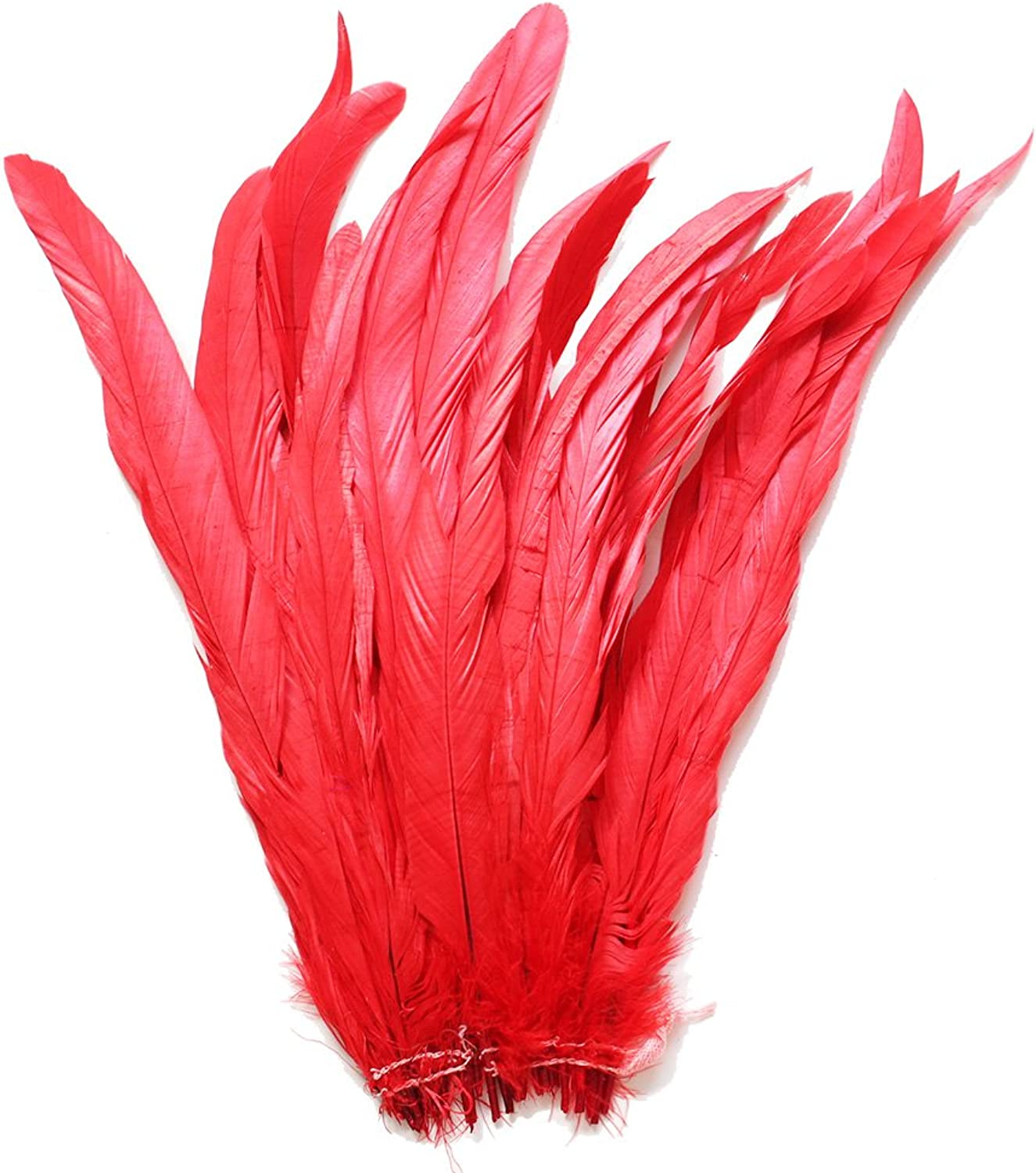 conveniente 25pcs 12-14 Bleach-Dyed Bleach-Dyed Bleach-Dyed Rooster Coque Tail Feathers, 16+ Colors to Pick Up (rojo) by Cynthia's Feathers  mejor reputación