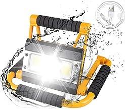 LED Portable Spotlight USB oplaadbare Werk Lamp 100W Waterdichte Zoeklicht Torch Camping Lantaarn Outdoor Zaklamp Vissen