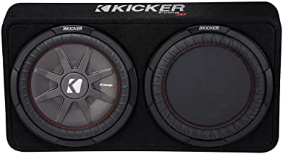 "KICKER 1000W Dual 12"" 4-Ohm Slim Shallow Subwoofer Sealed Enclosure 