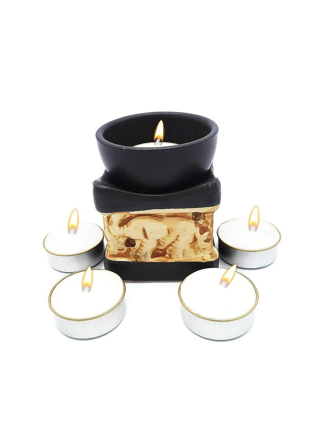 しなやかな予言する社交的Elephant Essential Oil Burner Tea Light Candle Holder for Home Decoration & Aromatherapy *FREE Scented Tea Light Candle