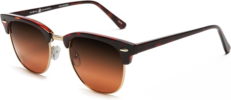SAMBA SHADES Polarized Club Master Vintage Sunglasses lunettes de soleil
