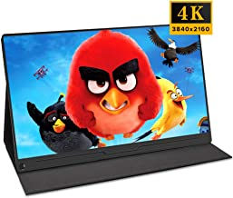 15.6'' inch 4K Computer Monitor Portable Dispaly 3840x2160 HDR IPS Screen Gaming Monitor PD Type-C HDMI OTG Built-in Speakers Folding Stand for Raspberry Pi Xbox PS4 Switch Industrial Display