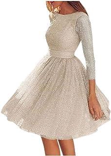 Fossen MuRope Vestidos Mujer Invierno Fiesta - Vestidos de Fiesta Mujer Cortos Elegantes para Boda, Dress Falda Juveniles ...