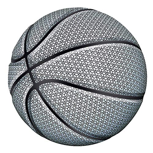 Find Discount TTAA Glowing Reflective Basketball Night Colorful Wear-Resistant Basketball Sports Bal...