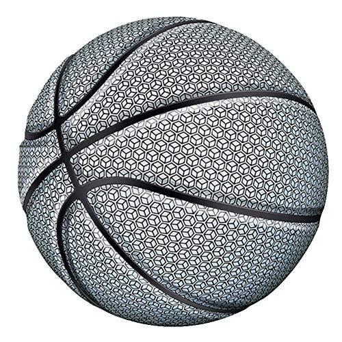 Shubiao Pelota de baloncesto reflectante brillante para la noche, colorida, resistente al desgaste