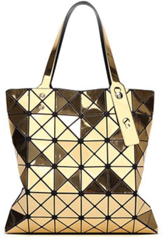 damen Handtasche Rhombus Rhombus Rhombus Falten Geometrische Mode Umhängetasche Portable Lady Bag B07KZVM6DS  Empfohlen heute 5f5042