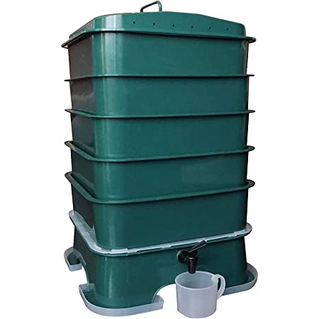 VermiHut Plus 5-Tray Worm Compost Bin – Easy Setup and Sustainable Design